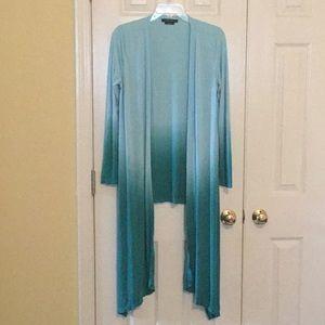 BCBG Blue Green Ombré Cardigan